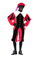 Pieten kostuum Luxe velours de panne roze-zwart