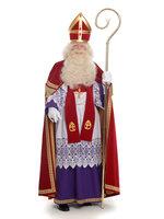 Sinterklaas kostuum fluweel katoen, extra brede mantel (TV-Sint)