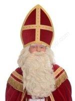 Sinterklaas Pruik & Baard Kunsthaar Nr. 1, losse snor