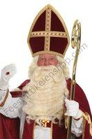 Sinterklaas pruik en baard kunsthaar nieuw