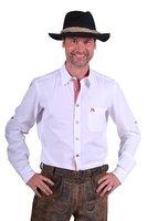 Tiroler blouse Christian, wit met lange mouwen