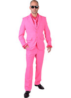 Magic kostuum 3 delig pink: colbert, broek en das.