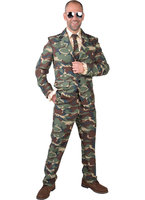 Magic suit 3 delig camouflage: colbert, broek en das