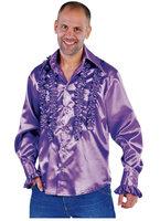 Ruches hemd paars satijn
