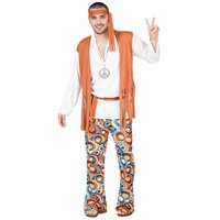 Hippie kostuum: blouse, broek, hoofdband
