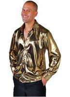 Hemd folie metalic goud