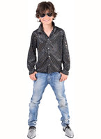 Magic Disco blouse glitter zwart