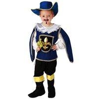 Musketier 4 delig: broek, shirt, hoed en beenkappen OP=OP