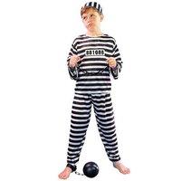 Boevenpak zwart/wit 3 delig: shirt, broek en muts