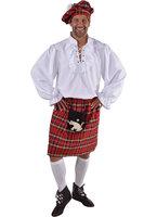 Schotse rok met rode ruit en tas
