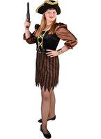 Magic Piratenmeisje bruin met riem