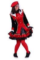 Dames piet kostuum Graciosa zwart-rood