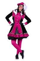 Dames piet kostuum Graciosa zwart-roze