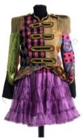 Dames patchwork jas kort model