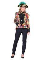 Luxe dames gevoerde jas kort model met summerprint