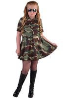 Magic Army leger girl jurk in camouflage kleuren