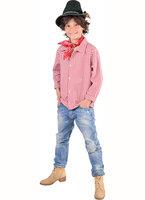 Tiroler shirt jongen rood-wit geruit