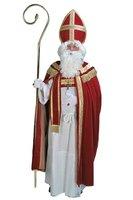 Sint kostuum polyester fluweel bordeaux rood