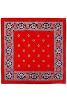 Zakdoek rood 63 x 63 cm 4-zijdig gezoomd