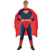 Superheld: jumpsuit, cape en riem