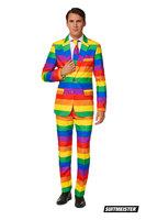 Suitmeister Rainbow 3 delig kostuum: colbert, broek en das