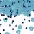 Tafeldecoratie confetti voetjes blauw