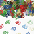 Sierconfetti cijfer '40' assorti gekleurd