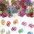 Sierconfetti cijfer '60' assorti gekleurd