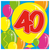 Servetten ballonprint '40' 20 stuks