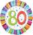 Folie ballon Radiant '80'