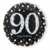 Ballonnen zwart goud 90 jaar