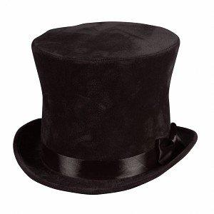 Hoge hoed zwart luxe