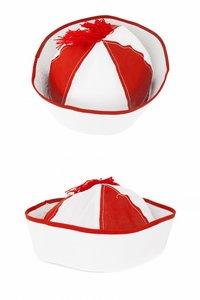 Navy cap rood-wit