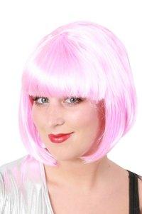 Bobline pruik licht roze