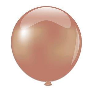 Mega ballon roségoud metallic