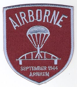 Airborne brug patch schildvorm