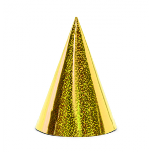 Punthoedjes holografisch goud