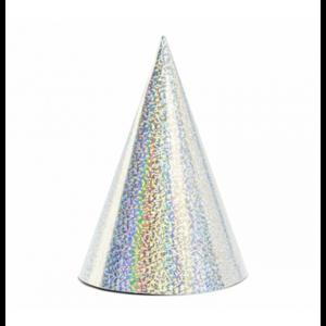 Punthoedjes holografisch zilver