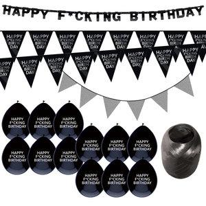 Verjaardag feestpakket Happy Fucking Birthday