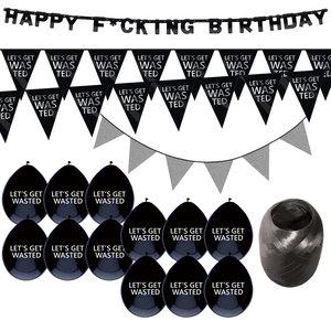 Verjaardag feestpakket Let's Get Wasted