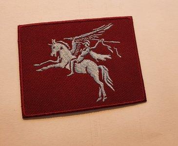 Airborne patch Pegasus schildvorm 8 cm vierkant