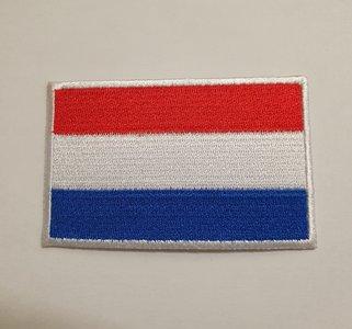 Nederlandse vlag patch 8,5 cm groot