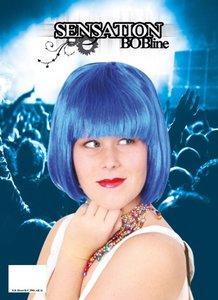 Sensation Bobline, page pruik kort model blauw