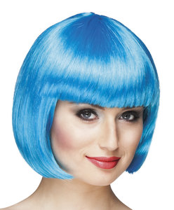 Cabaret bobline pruik Icy blue