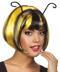 Pruik geel zwart honeybee