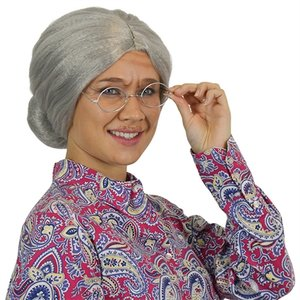 Oma met knot grijs mat
