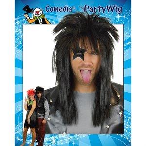 Punk pruik zwart