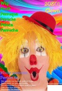 Clown touwtjes pruik geel