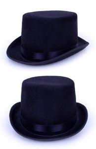 Hoge hoed zwart populair, top vilt