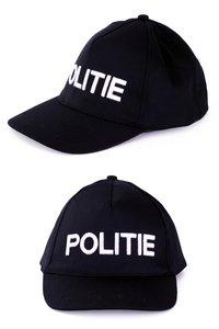 Baseballcap zwart met opdruk 'Politie'